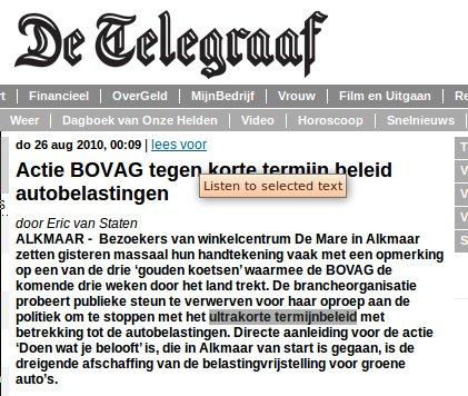 Bovagactie Telegraaf
