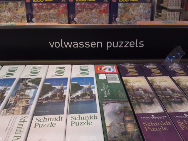 Volwassen puzzels van de V&D
