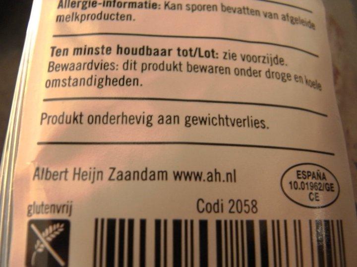 Albert Heijn: produkt? bewaardvies?