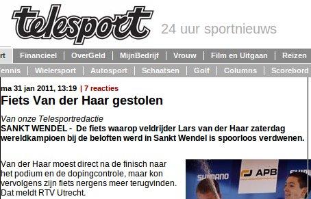 Telegraaf finish