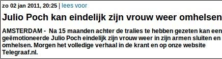 Omhelzen volgens de Telegraaf