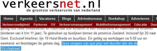 verkeersnet.nl dan als