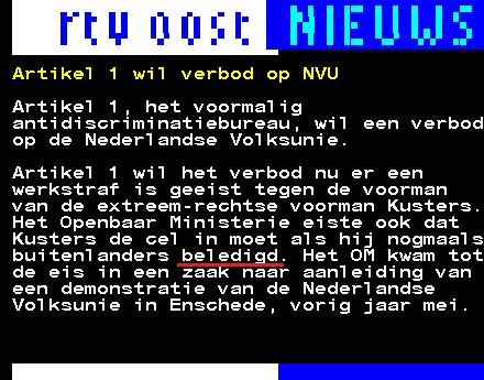 RTV Oost beledigd